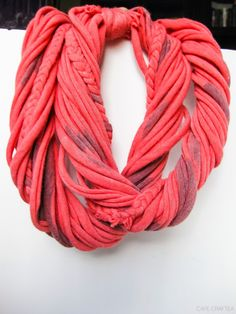 DIY | No Sew T-Shirt Scarf