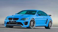 Download 1366768 Sky Blue Bmw M6 G Power 2009 Wallpaper