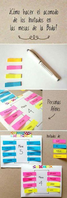 Ideas  para organizar las  mesas  de tu resepcion