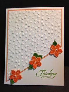 Love this angled design. Great use for all my embossing folders.