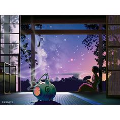 This is one of my favorites by Kagaya. Portrait: Breezes With Stars  Collection: Tranquil Night Of Stars  Artist: Kagaya @ kagayastudio.com #breezeswithstars #kagaya #kagayastudio #digitalart #digitalartdesigner #digitaldesign #japaneseartist #japaneseart  #artworkoftheday #artwork #art #graphicartist #artist #artoftheday #incenseburner #incense #starrynight #sunset #lookingupatthestars #chilling #serenity #peaceful #beautifulnight #supercoolart