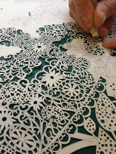 Rob Ryan....papercut artist...Each one carefully work is, creating a beautiful work.