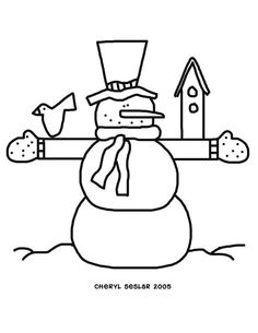 jolly snowman free snowman coloring page also many other free christmas coloring pages - Free Snowman Coloring Pages