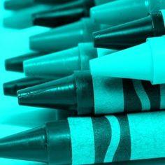 Color Teal - Teal!!!  Crayons