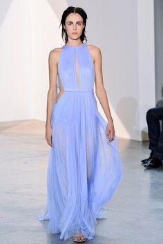 Vestido drapeado azul de Vionnet