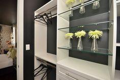 Glass shelves in the closet Custom Closet Design, Custom Closets, Master Bedroom Closet, Small Closets, Glass Shelves, Shelving, Shelf, Home Decor, Shelves