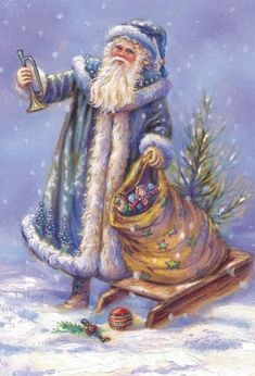 Yuletide Greetings, Merry and Happy Christmas. Christmas Scenes, Christmas Past, Father Christmas, Blue Christmas, Winter Christmas, Christmas Mantles, Christmas Villages, Christmas Ornaments, Xmas
