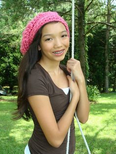 Pink Slouchy Beanie Hat for Women Teen Fashion by foreverandrea, $40.00 #teen #fashion