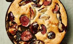 Fig and thyme clafoutis