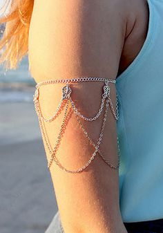 Layered Arm Chain - Gorgeous Silver Arm Band