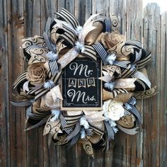 Deco Mesh Wedding Wreath Burlap Roses Swirls by GoblinsandHolly, $110.00