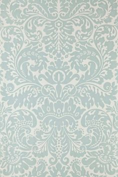 Our bedroom wallpaper (accent wall): Farrow & Ball Silvergate BP 841