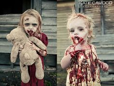 Zombie Session by Katie Cawood by Katie.Cawood, via Flickr | Zombie kids, childres, toddler | cosplay | little girl and boy costume