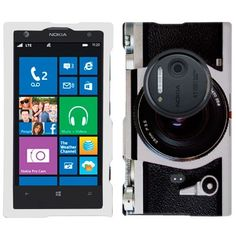 Nokia Lumia 1020 Retro Black with Chrome Camera Phone Case Cover by TrekCovers, http://www.amazon.com/dp/B00EV157OI/ref=cm_sw_r_pi_dp_BTCusb026S99K