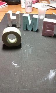 El blog de RakelScrapymas: letras decoradas con chalk paint.