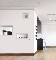 Ancadramentele reusesc sa transforme un perete banal in unul extrem de inedit si modern!   #profiledecorative, #plinta, #rozeta, #cornisa, #bagheta Garage Doors, Profile, Outdoor Decor, Modern, Design, Home Decor, User Profile, Trendy Tree, Decoration Home
