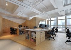 We like this 130 square meter (1,400 sq.ft.) office for its crisp simplicity. It is a expansion project by Alain Wong of Comodo for his company's own office space located in Knutsford Terrace, Tsim Sha Tsui, Kowloon, Hong Kong. Wong calls the project Landscape in Bustling City, a fitting name for an office located in …