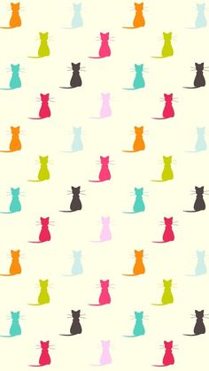 Cats Wallpaper Iphone Pattern Kitty 69 Ideas For 2019 Cats Wallpaper, Pattern Wallpaper, Wallpaper Backgrounds, Iphone Wallpaper, Animal Wallpaper, Disney Wallpaper, Phone Backgrounds, Wallpaper Quotes, Cat Pattern
