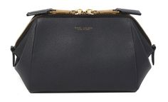 Marc Jacobs Textured Incognito Doctor Pouch in Navy with Antique Gold