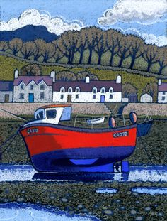 Chris Neale Studio - signed limited edition art prints and original artwork Landscape Art, Landscape Paintings, Landscapes, Boat Painting, Painting & Drawing, Naive Art, Aboriginal Art, Print Artist, Cornwall