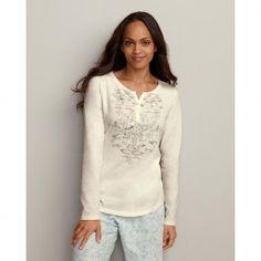 Eddie Bauer Women's Split-Neck Sleep T-Shirt