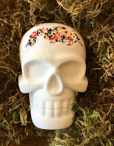 Bath Bomb, Death By Candy, Candy Bath Bomb, Birthday Bath Bomb, Hidden Color Bath Bomb, Skull, Skull Bath Bomb, Gothic Bath Bomb, Vanellope Skull Bath Bomb, Vanellope, Bath Bombs, Gothic, Death, Candy, Birthday, Unique Jewelry, Handmade Gifts