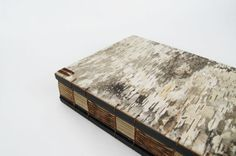 simply gorgeous :: handmade journal white birch bark by ThreeTreesBindery