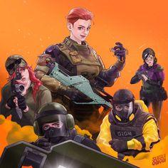 Rainbow Six Siege Anime, Rainbow Six Siege Memes, Rainbow 6 Seige, Tom Clancy's Rainbow Six, Photoshop Youtube, Lion Art, Artwork Pictures, Girls In Love, Game Art