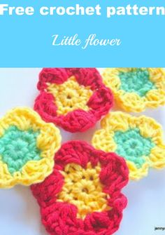 free crochet flower