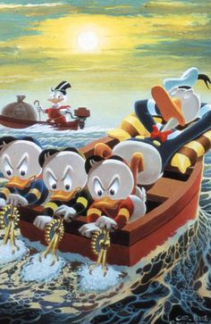 Donald Duck and Uncle Scrooge - Slow Boat to Duckburg by Carl Barks