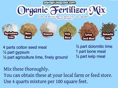 Organic #Fertilizer Mix Recipe #organicgardening #gardening