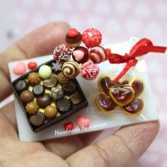 DOLLHOUSE MINIATURE  Size Chocolate Covered Cherries Candy Box # c