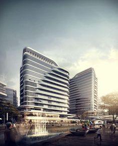 """Recent work with Shanzi Digital, Tianjin Jinheng Yin Tianjin, China #dnastudio #architect #architecture #архитектура #render #archicad #light…"""
