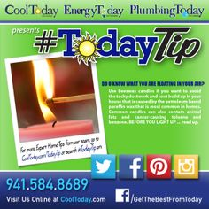 Do you know what you are floating in your air? #TodayTip #Candles