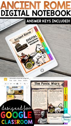 Ancient Rome Interactive Notebook {Digital Version} Digital Interactive Notebook using Google Slides! Graphic organizers that students simply type in! Paperless, colorful & fun activities for students! Vocabulary, graphic organizers, and images included Teaching Activities, Teaching Science, Teaching Reading, Teaching Resources, Teaching Ideas, Learning, 6th Grade Social Studies, Teaching Social Studies, Student Teaching