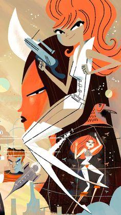 This looks heavily influenced by the Yuki 7 art of Kevin Dart | Illustrator: Steve Scott