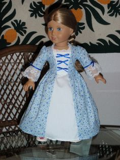 1770s Colonial Dress for American Girl by alohagirldollclothes, $22.50