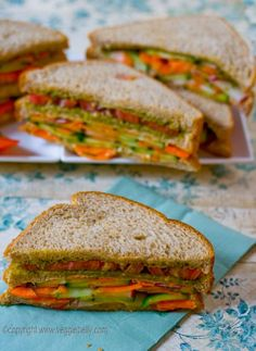 Vegetarian tea sandwiches