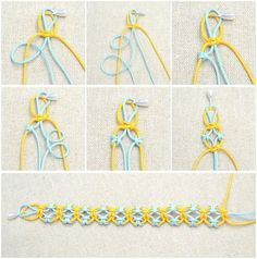 In this easy diy jewelry tutorial, you will be taught how to knit a friendship bracelet with lark's knots. This idea is just a simple way to DIY friendship bracelet. by alhely