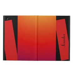 """iPad Air Case, Wild Colors, Red Orange Yellow - This unique red, orange, and yellow iPad Air case is part of our """"Triple Stripe of Color"""" collection. It is a great Christmas gift for anyone who enjoys digital art. What a wonderful complement for a new iPad Air. Artwork and protection, all in one. All Rights Reserved © 2013 Alan & Marcia Socolik. #iPadAir #iPadAirCases #CasesForIpadAir"""