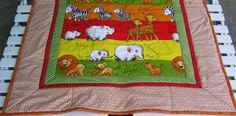 Neu! Kuscheldecke mit Nashorn und Löwen von Meine bunte Flickenecke auf DaWanda.com