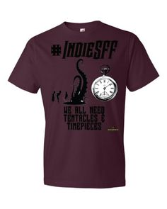 http://www.outsidetheexosphere.biz/product/indiesff-tentacles-timepieces-t/  #IndieSFF Tentacles & Timepieces Short Sleeve T £15.50–£18.50  #Steampunk #Tshirt