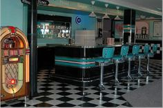My party place would also have a bar like a 50's diner!
