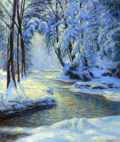 The Athenaeum - Snowy Landscape with Brook (Walter Launt Palmer - )