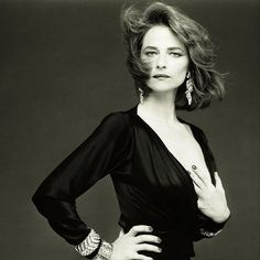 Portrait of Charlotte Rampling by Bettina Rheims, 1985 Charlotte Rampling, Helmut Newton, English Actresses, British Actresses, Erwin Olaf, Paolo Roversi, Peter Lindbergh, French Photographers, Celebrity Portraits