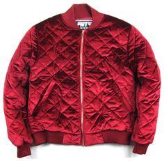 Velvet Quilted Streetwear Bomber Premium velvet hard to find Streetwear bomber. Material: Velvet and Polyester