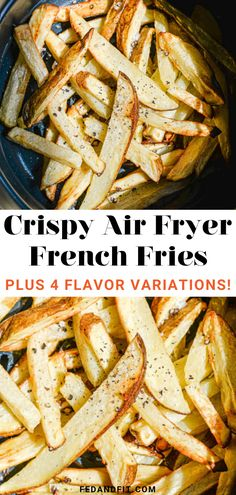 Learn how to make the crispiest air fryer french fries in the Instant Pot Duo Crisp plus 4 different seasoning and dipping sauces to uplevel your fry game! Air Fry French Fries, Crispy French Fries, French Fries Recipe, Air Fryer Dinner Recipes, Air Fryer Recipes, Air Fryer Fries, Basic Butter Cookies Recipe, Food Meaning, Oven Roasted Chicken