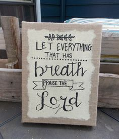 Handpainted Wall HangingPsalm1506 Let by SouthernClothCo on Etsy Only $17! What a steal