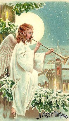 A Merry Christmas postcard.