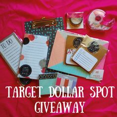 One year of blogging + Target Dollar Spot Giveaway!